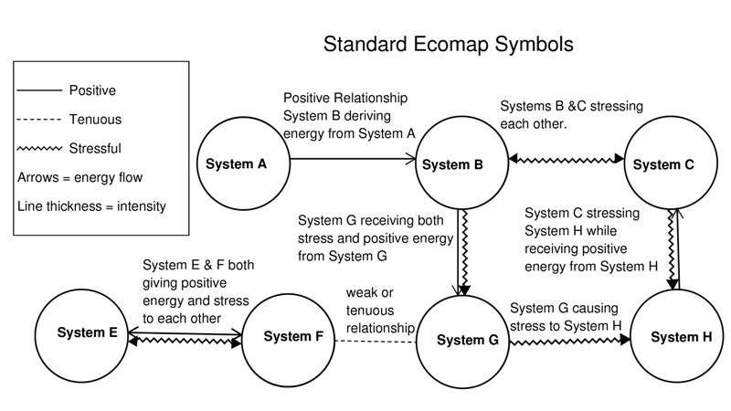Ecomap Symbols and Relationship Lines Genogram Analytics – Ecomap Template