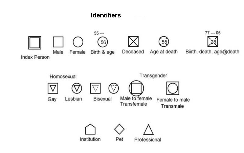 Family Genogram Template Symbols, Family, Free Engine  of Medical incarcerated