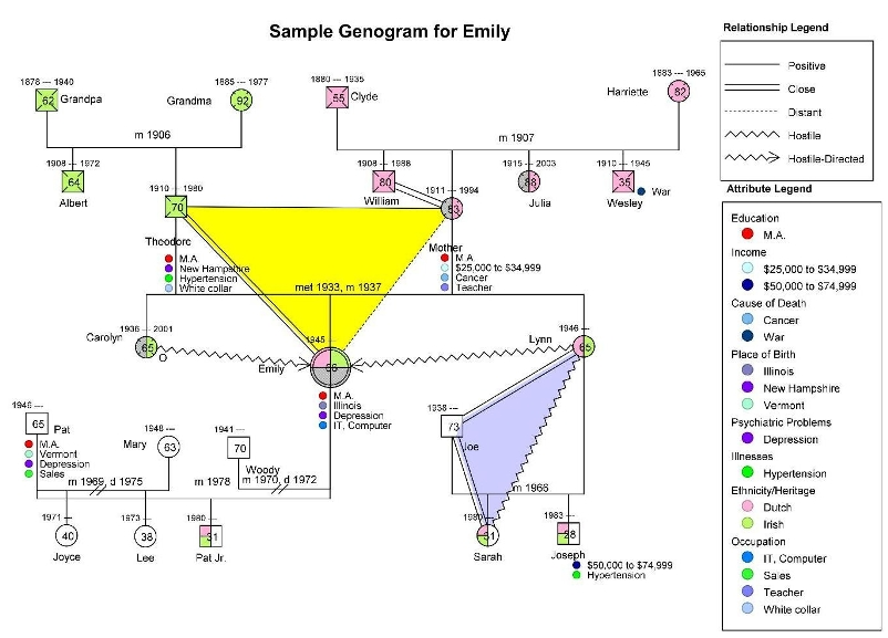 Genogram Template | Out-Of-Darkness